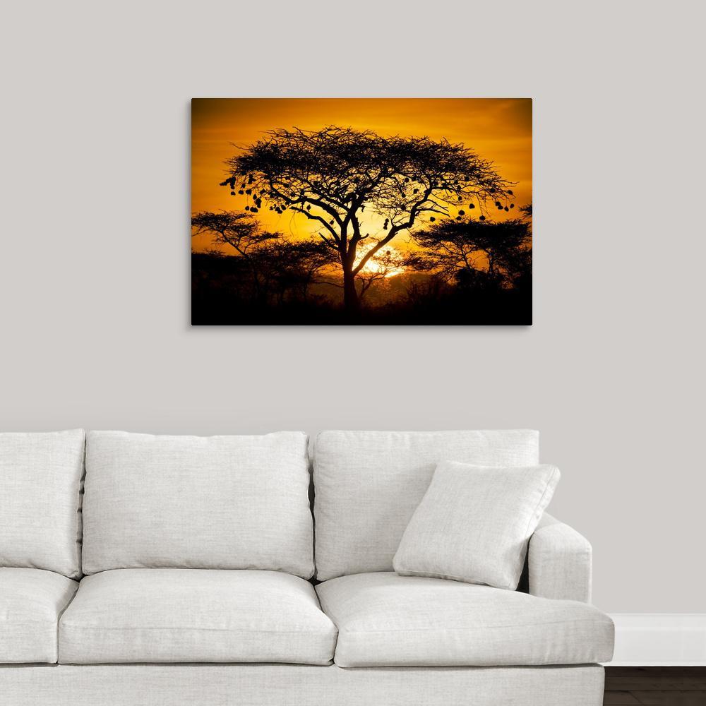 GreatBigCanvas 36 in. x 24 in. ''African Sunset'' by Scott Stulberg