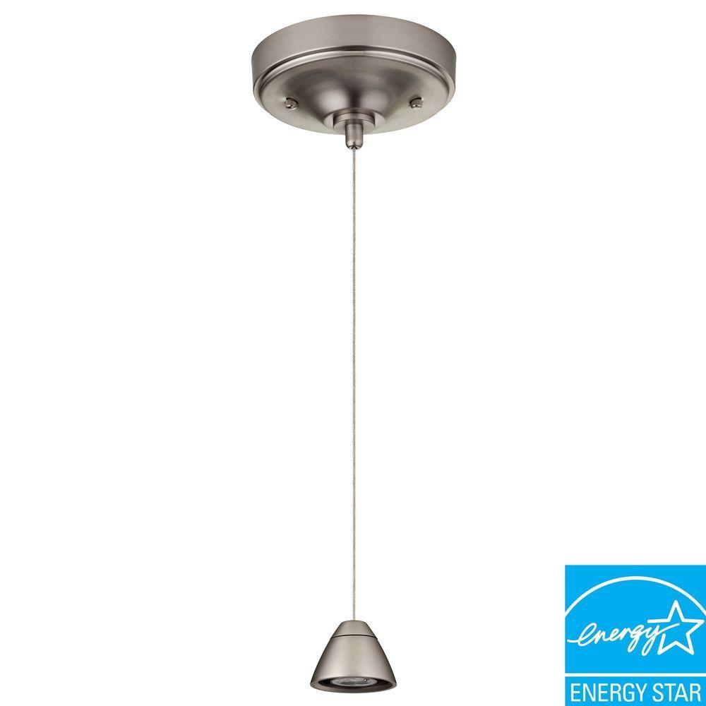 Lithonia Lighting 3-Light Brushed Nickel LED Bullet Mini Pendant Fitter
