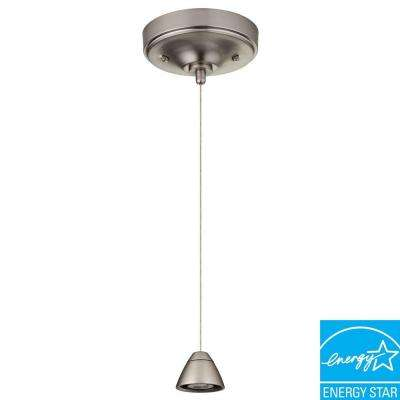 3-Light Brushed Nickel LED Bullet Mini Pendant Fitter