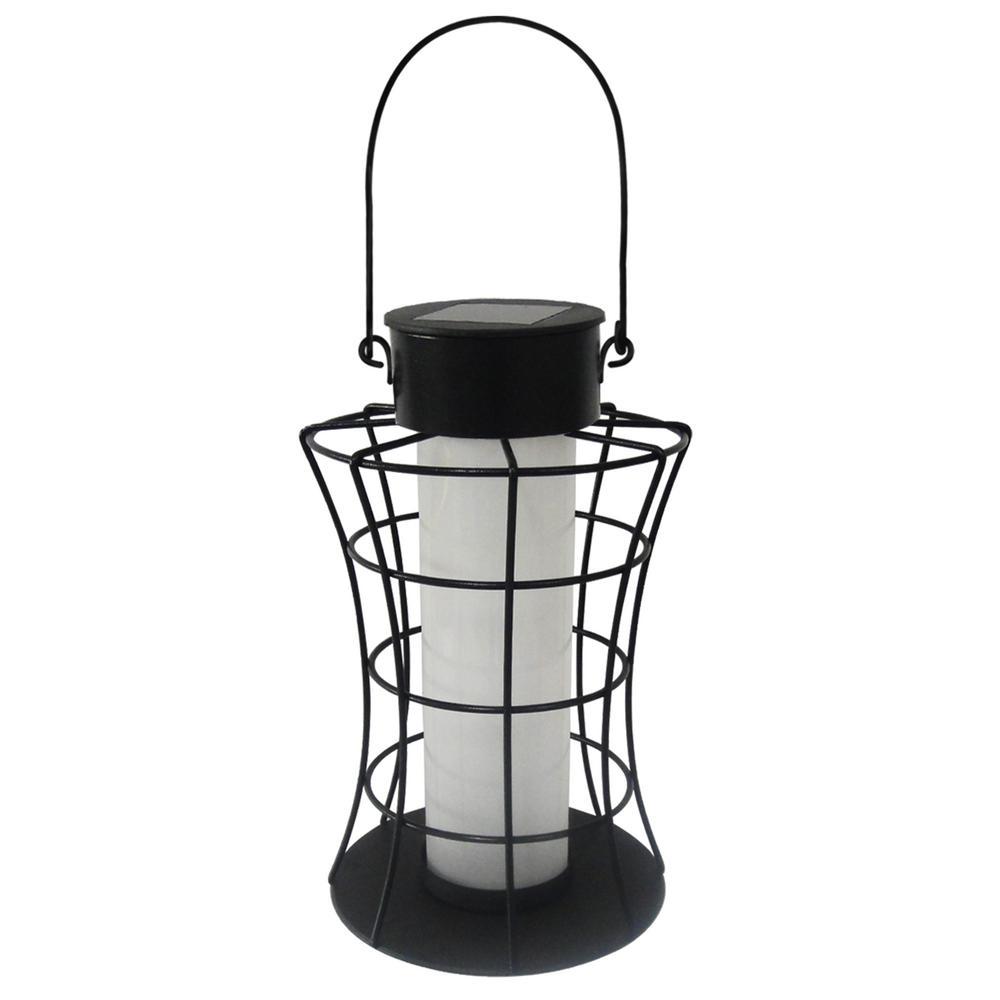 Solar Cylinder Lantern with 10 Warm White LED Lights
