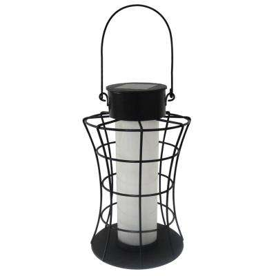 Solar Cylinder Lantern with 10 Warm White LED Lights