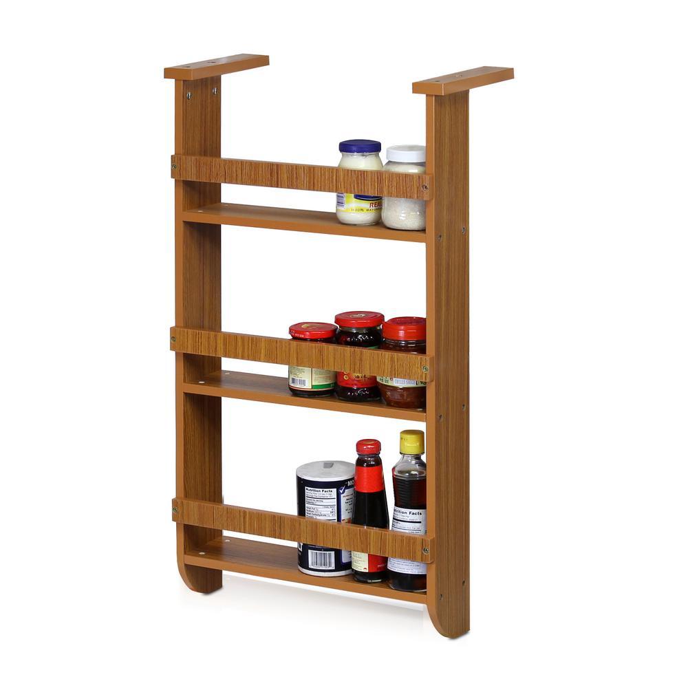 Cherry 3-Shelf Refrigerator Wall Hanging Spice Rack