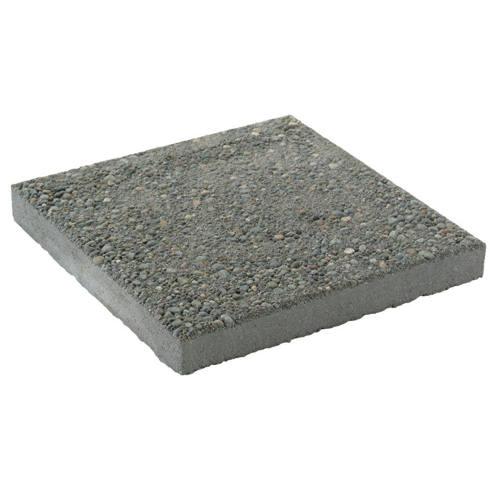 Square Exposed Aggregate Concrete Step Stone PV05016SQGRE   The Home Depot