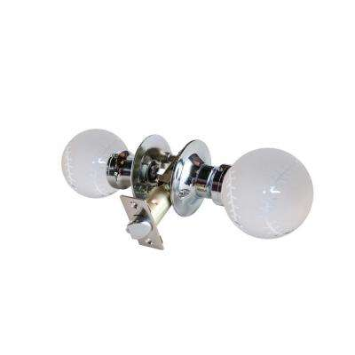 Baseball Crystal Chrome Passive Door Knob with LED Mixing Lighting Touch Activated
