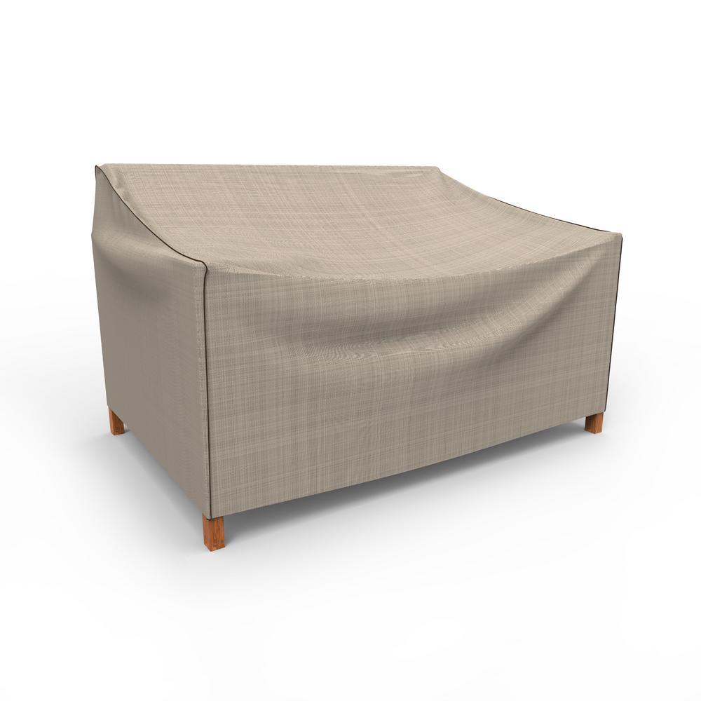NeverWet Mojave Small Black Ivory Patio Sofa Cover