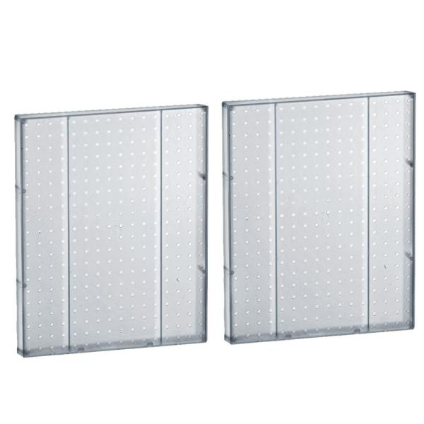 20.25 in H x 16 in W Pegboard Clear Styrene One Sided Panel (2-Pieces per Box)
