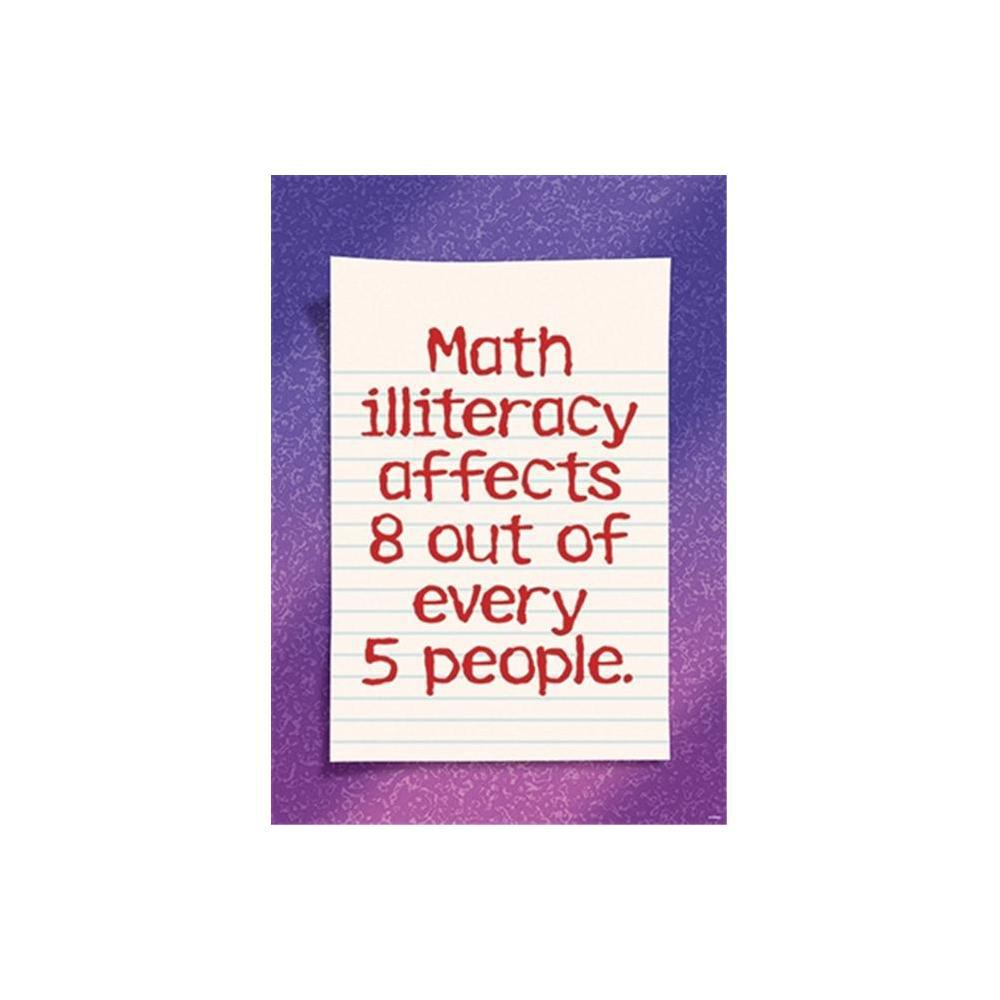 Math Illiteracy Affects 8 Out Of- Every 5-People Argus Large Poster