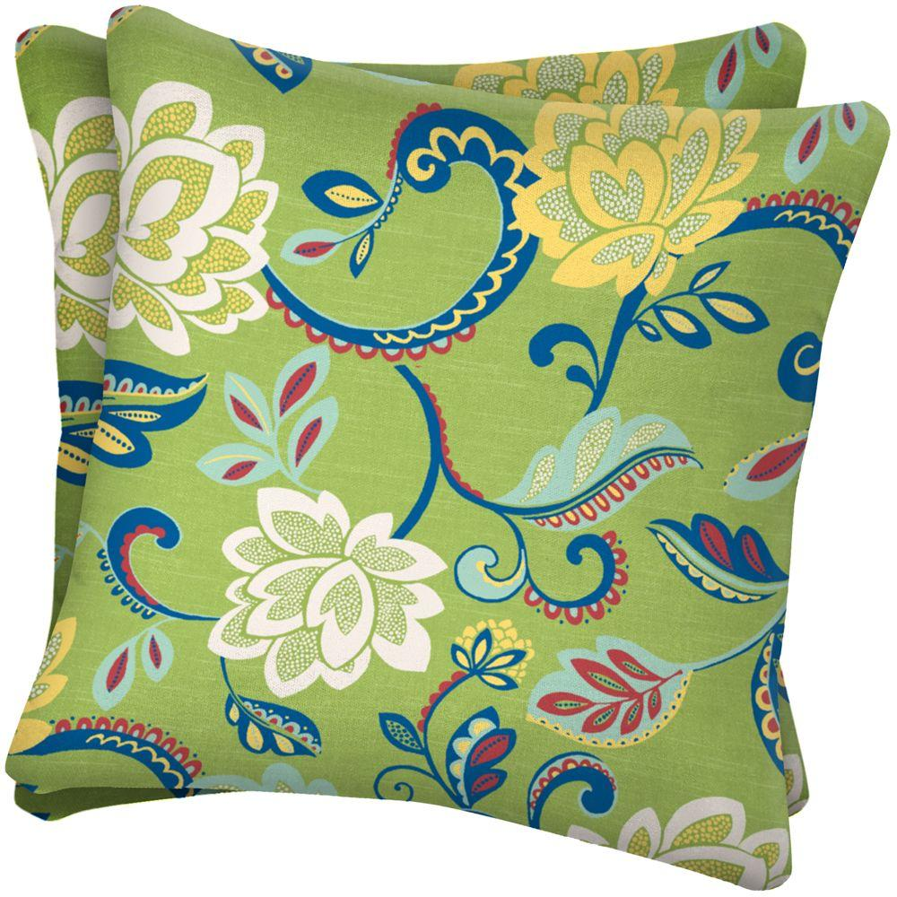 Arden Beachside Floral Outdoor Throw Pillow (2-Pack)-DISCONTINUED