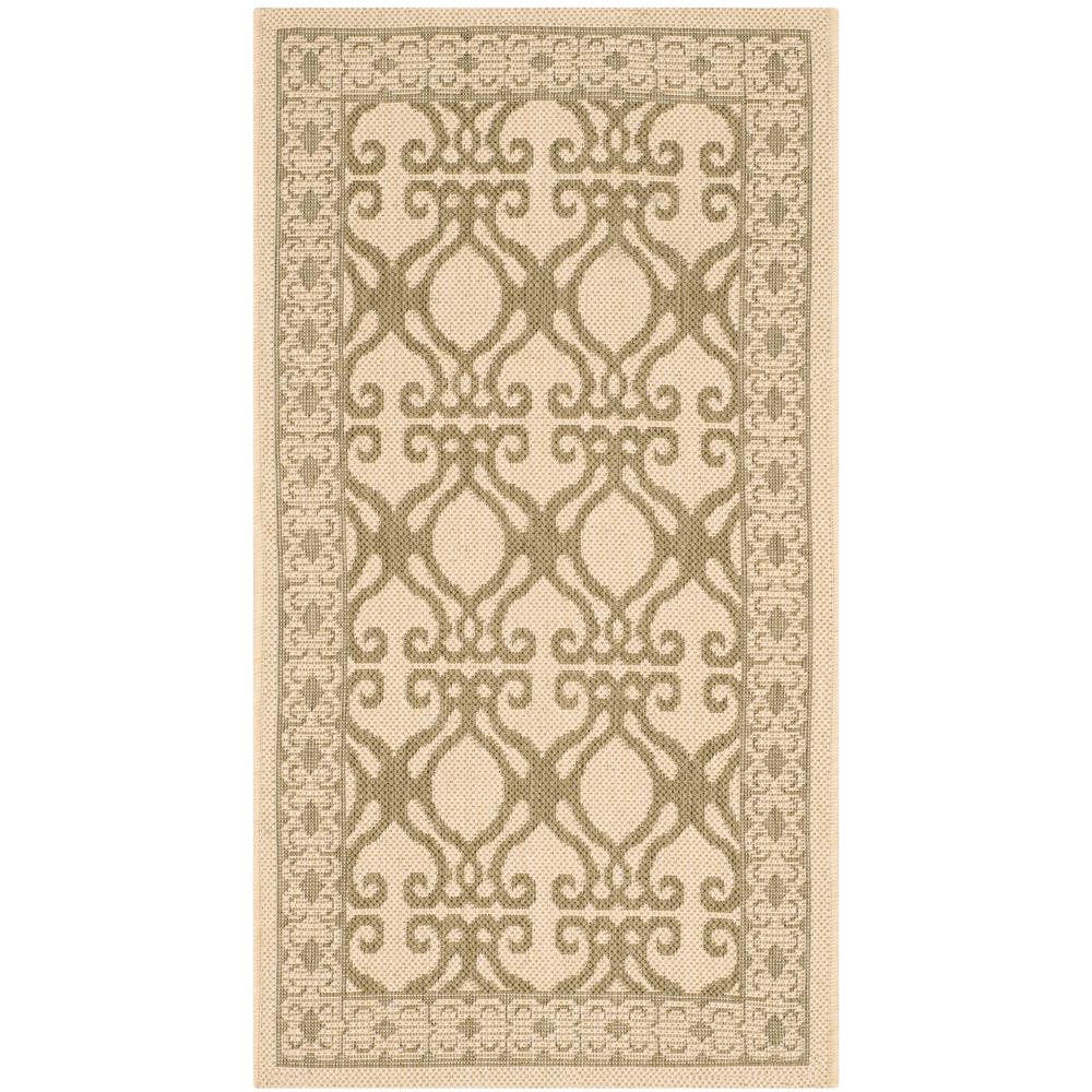 Safavieh Courtyard Natural/Olive 2 ft. x 3 ft. 7 in. Indoor/Outdoor Area Rug