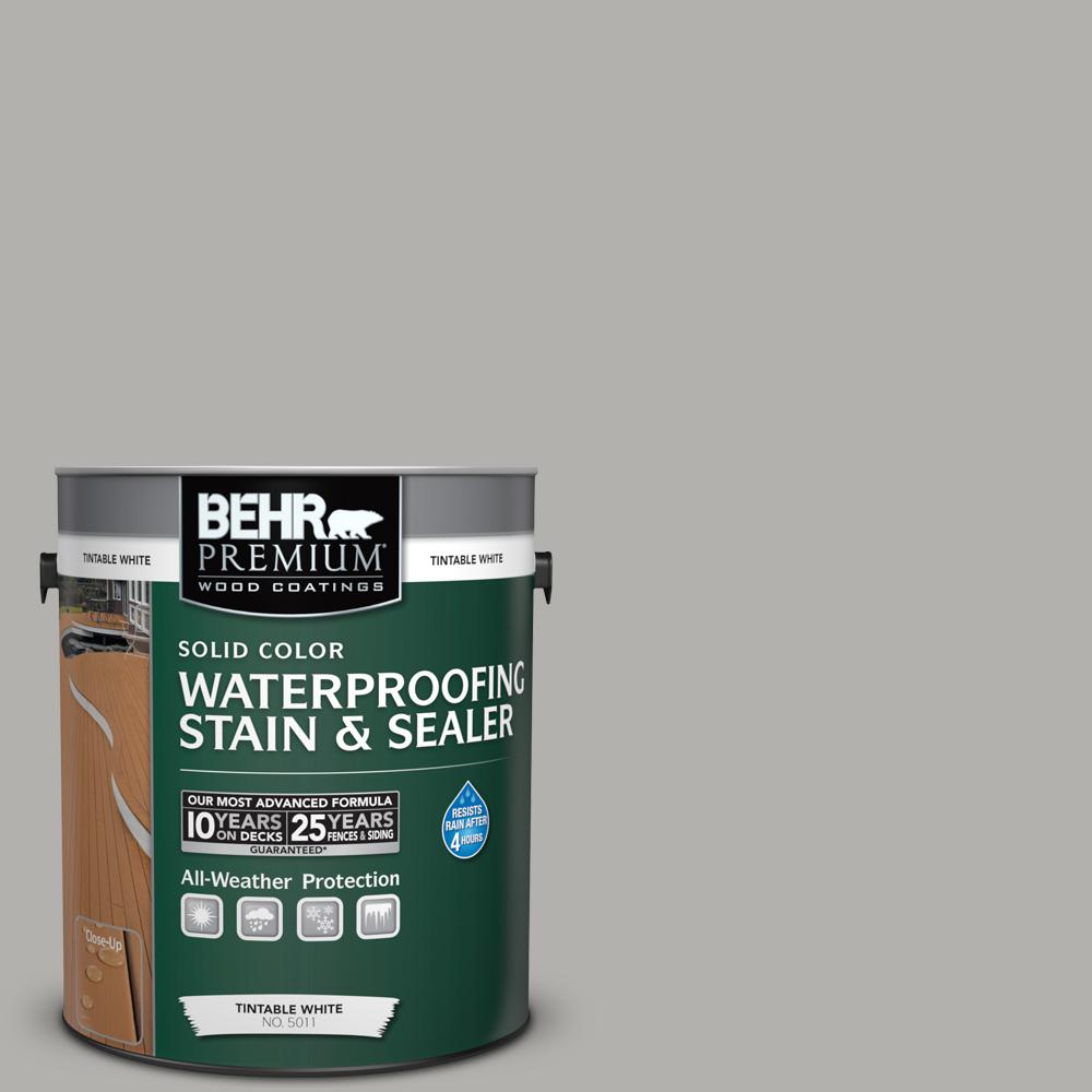 BEHR Premium 1 gal. #BXC-25 Colonnade Gray Solid Color Waterproofing Exterior Wood Stain and Sealer