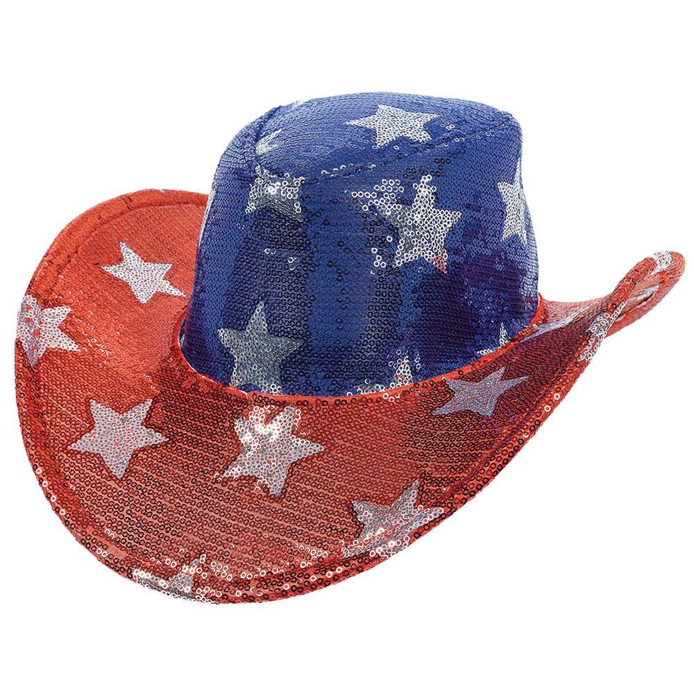 5 in. x 13 in. Sequin Cowboy Hat