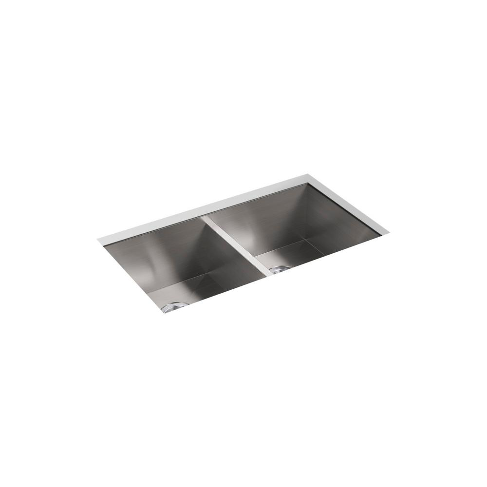 Undermount Equal Double Bowl Stainless Steel Kitchen Sink