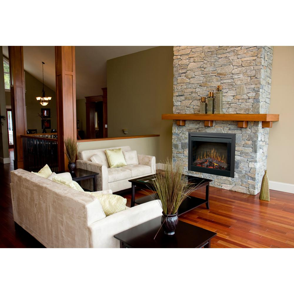 Dimplex 39 in. Deluxe Built-In Electric Fireplace Insert with Brick Effect and Purifire