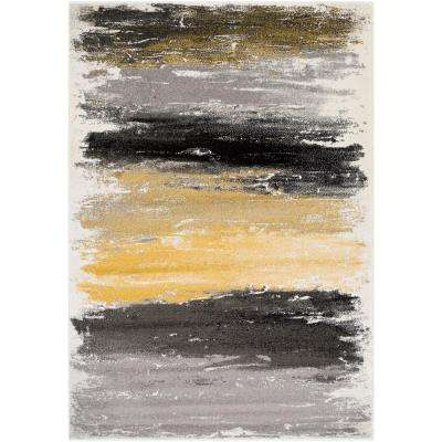 Pepin Black Yellow 2 ft. x 3 ft. Indoor Area Rug