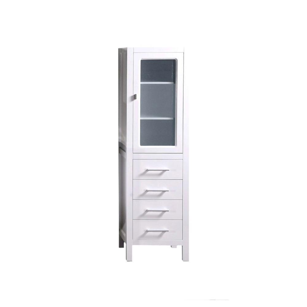 18 In W X 66 H D Bathroom Linen Storage Cabinet White