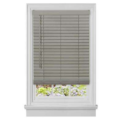 Grey Cordless Room Darkening Plantation Faux Wood Blinds with 2 in. Slats 35 in. W x 64 in. L