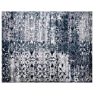 Montvale Collection Floral Gray 7 ft. 8 in. x 9 ft. 8 in. Area Rug