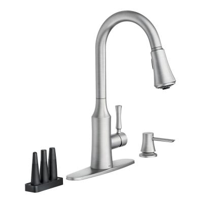 Venango Single-Handle Pull-Down Sprayer Kitchen Faucet with Reflex and Power Clean Attachments in Spot Resist Stainless