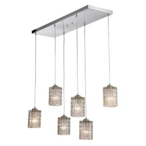 Aldubon 6-Light Chrome Chandelier with Diamond Crystal Shade