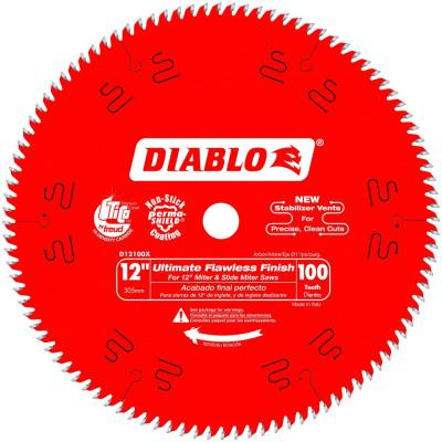 12 in. x 100-Teeth Ultimate Polished Finish Saw Blade