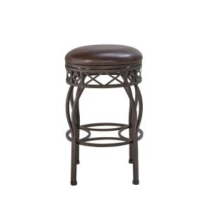 Swell Homefare Backless 30 In Adjustable Metal Frame Barstool Ds Squirreltailoven Fun Painted Chair Ideas Images Squirreltailovenorg