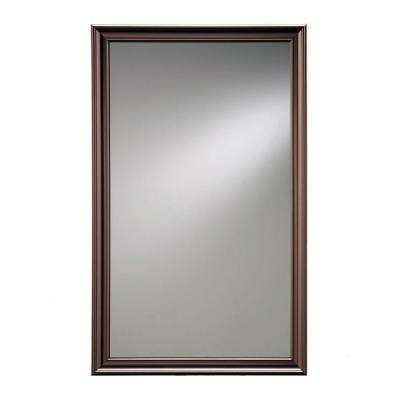 Ashton 15.75 in. W x 25.5 in. H x 5 in. D Recessed Mirrored Medicine Cabinet in Bronze