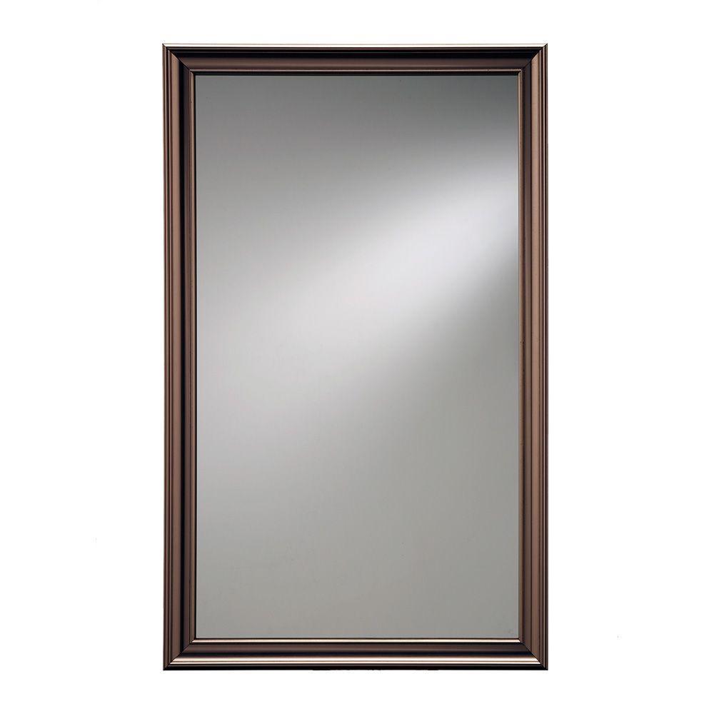 Ashton 15.75 in. W x 25.5 in. H x 5 in. D Recessed Mirrored Medicine Cabinet in Bronze