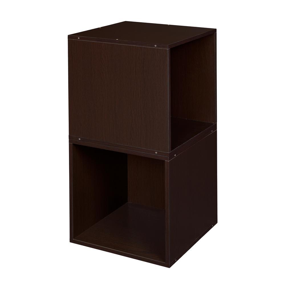 Cubo 13 in. x 13 in. Truffle Modular 2-Cube Organizer