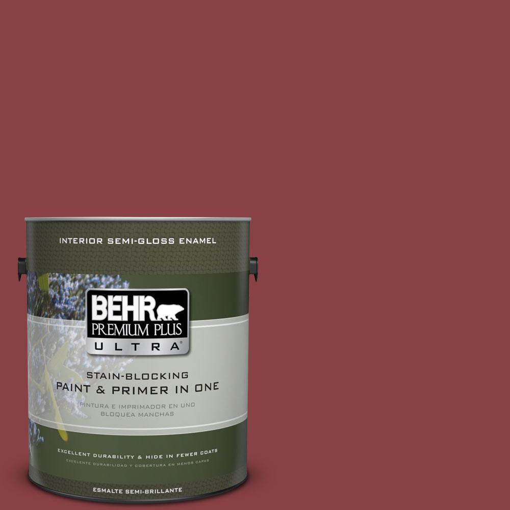 1-gal. #BIC-34 Winning Red Semi-Gloss Enamel Interior Paint