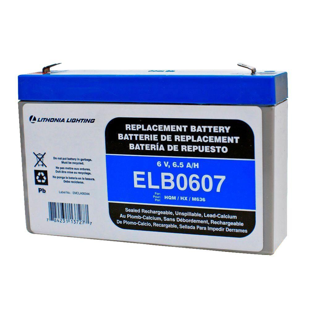 Lithonia Lighting 6-Volt 7 Amp Hours Replacement Battery for Emergency/Exit Lighting