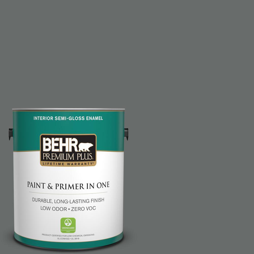 1 gal. #PPU25-03 Shadows Zero VOC Semi-Gloss Enamel Interior Paint