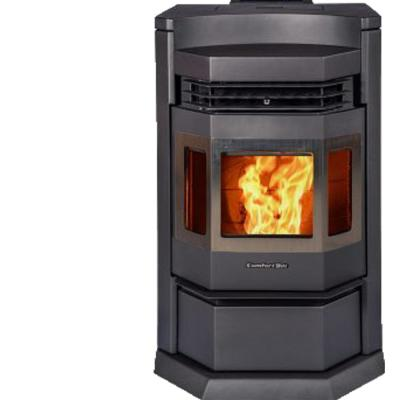 2800 sq. ft. EPA Certified Pellet Stove with 80 lb. Hopper and Programmable Thermostat in Carbon Black with SS Door Trim