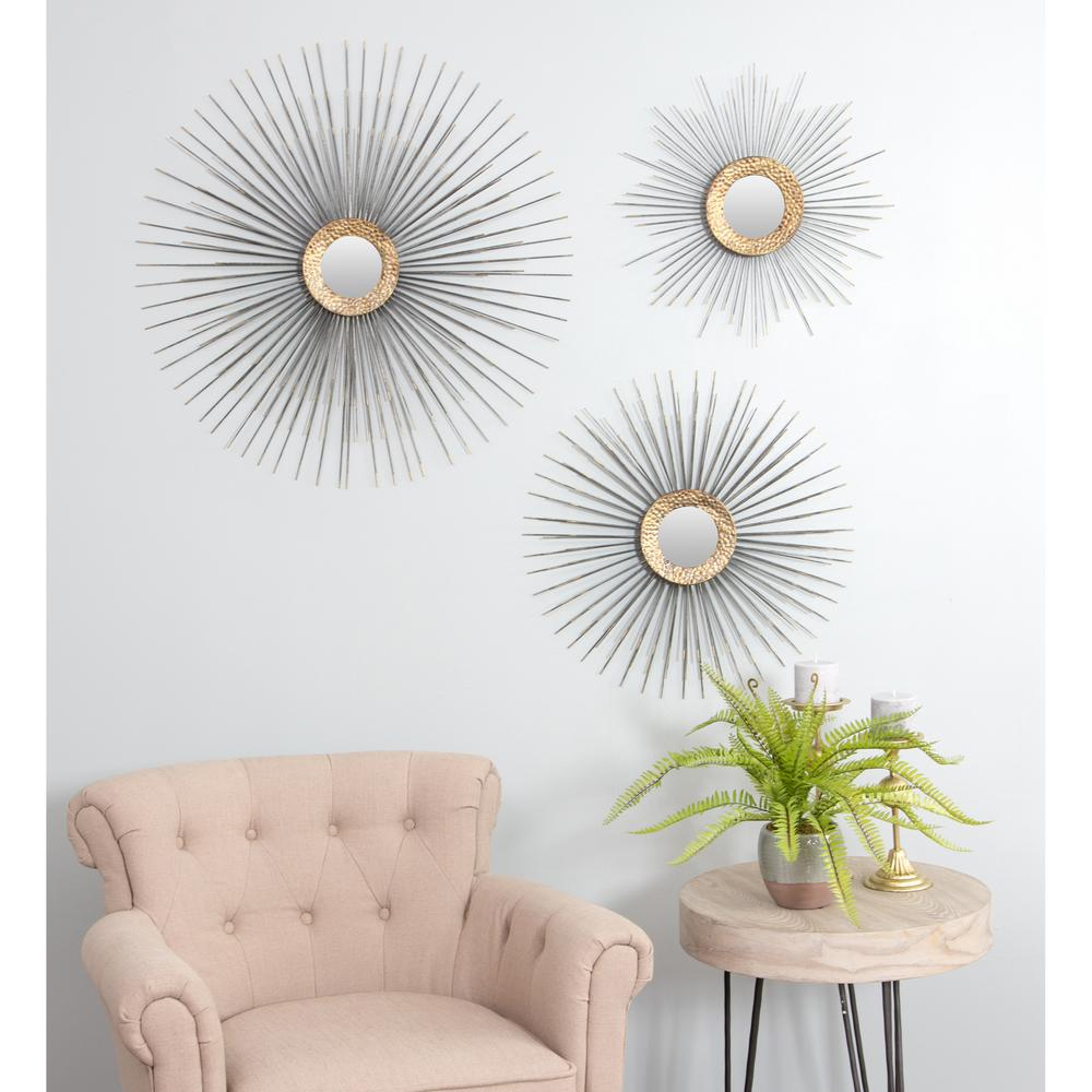 Aspire Home Accents Boteh Mid Century Wall Mirrors Set Of 3