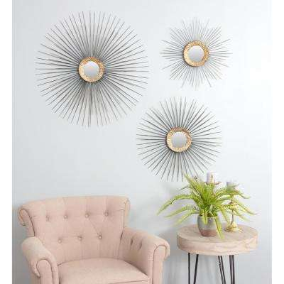 Boteh Mid Century Wall Mirrors (Set Of 3)