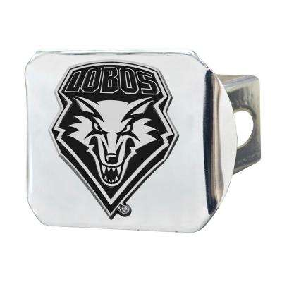 NCAA University of New Mexico 2 in. Type III Chrome Hitch Cover with Chrome Emblem