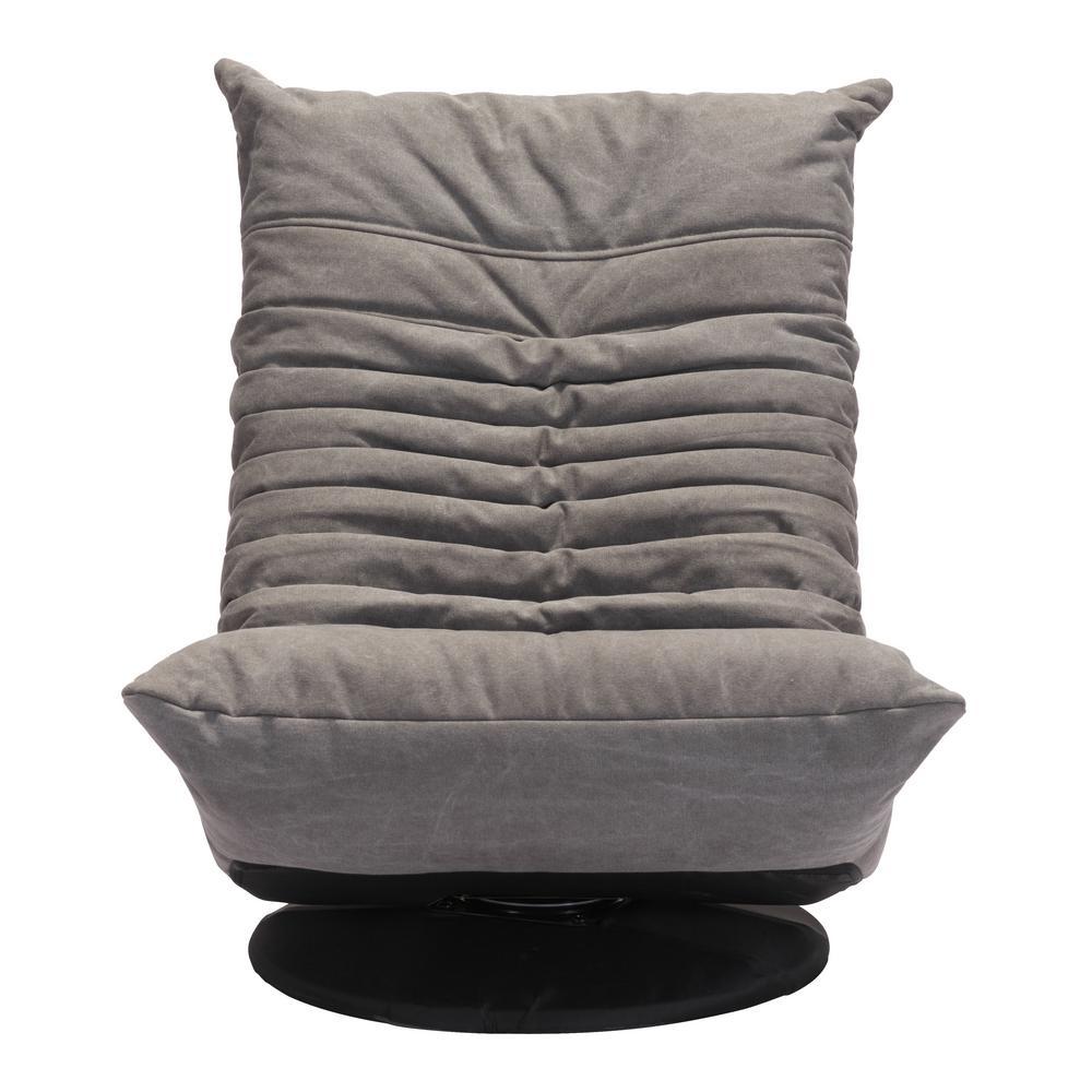 Astonishing Zuo Down Low Gray Swivel Chair 100682 The Home Depot Evergreenethics Interior Chair Design Evergreenethicsorg