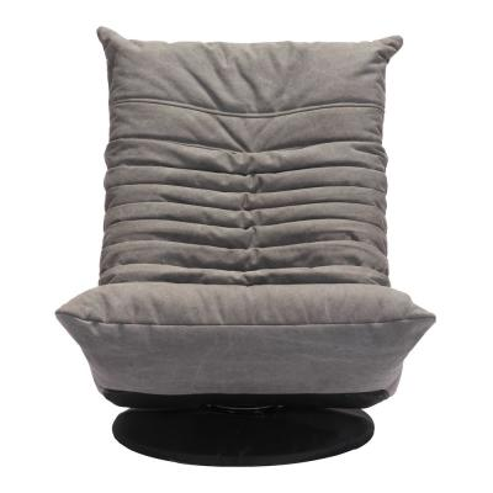 Down Low Gray Swivel Chair