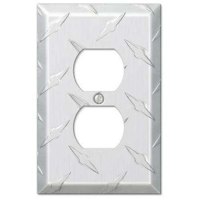 Diamond Cut 1 Toggle Wall Plate - Aluminum