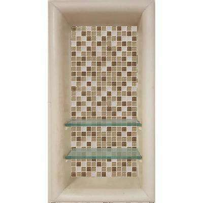 Roma 12 in. x 4 in. x 24 in. Shower Niche in Desert Sand