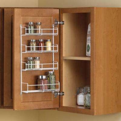 11.25 in. x 4.69 in. x 20 in. Door Mount Spice Rack Cabinet Organizer