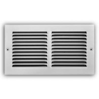 12 in. x 6 in. White Return Air Grille