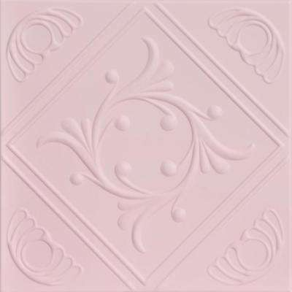 Diamond Wreath 1.6 ft. x 1.6 ft. Foam Glue-up Ceiling Tile in Powder Blush