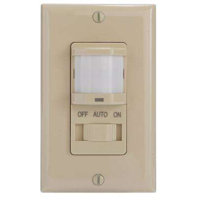 IOS Series 500-Watt Occupancy Switch with Manual Override Decorator 150-Degree Coverage Pattern, Ivory