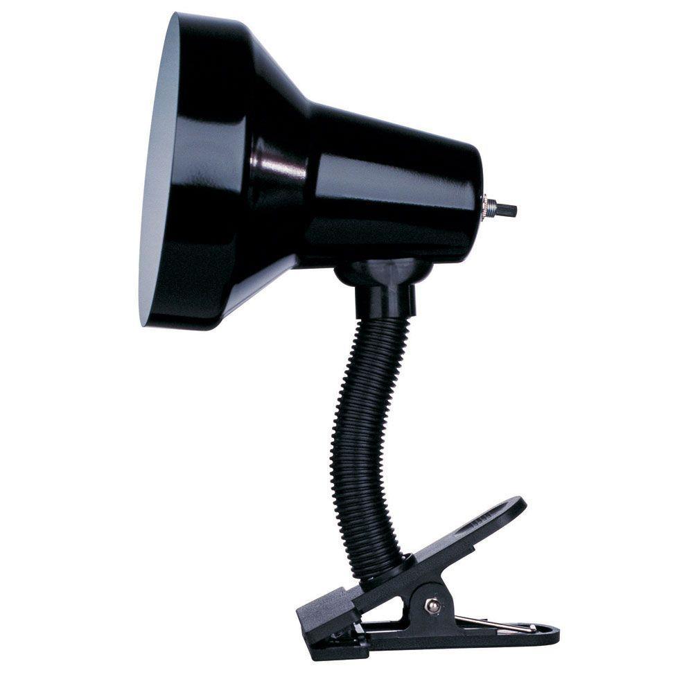 Filament Design Beira 10 in. Gloss Black Desk Lamp