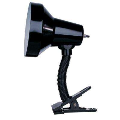 Beira 10 in. Gloss Black Desk Lamp