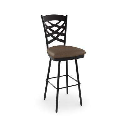 Nest 26 in. Brown Metal Brown Polyurethane Counter Stool