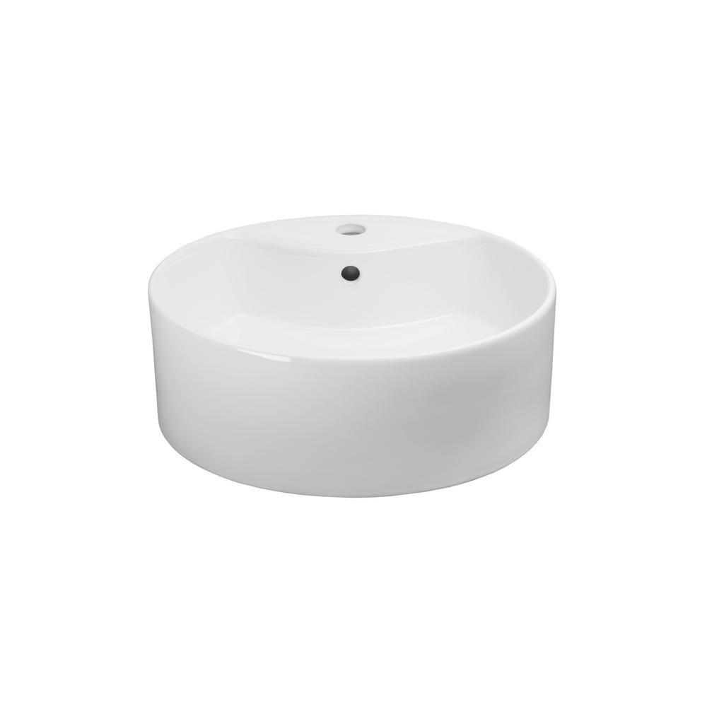 Awesome Ronbow Essentials Vault Vessel Sink In White