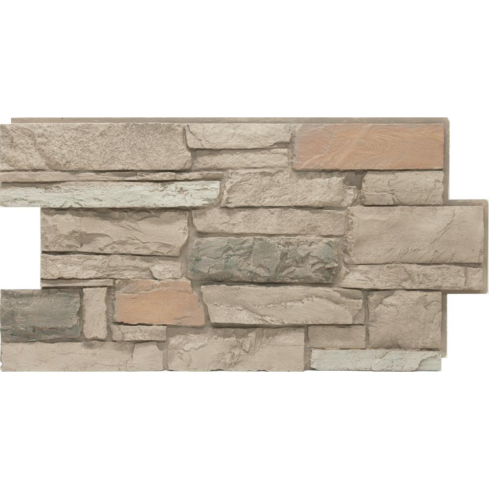 Urestone 24 In X 48 In Ledgestone Desert Oasis Stone Veneer Panel Ul2610 105 The Home Depot