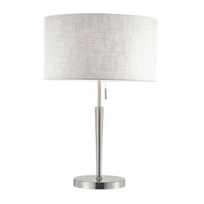 Hayworth 22 in. Satin Steel Table Lamp