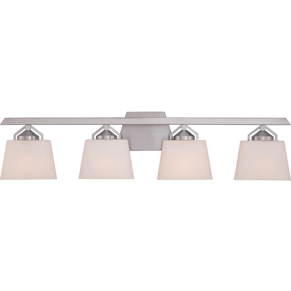 Illumina Direct Renprio 4-Light Brushed Nickel Bath Vanity Light